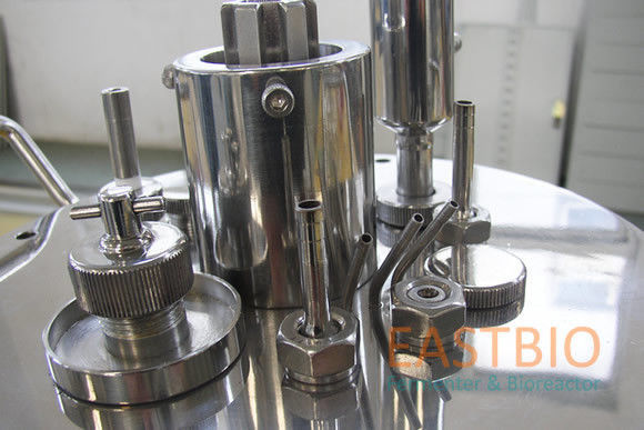 Jacketed Lab Scale Bioreactor Mechanical Stirred Glass Fermenter Automatic Control